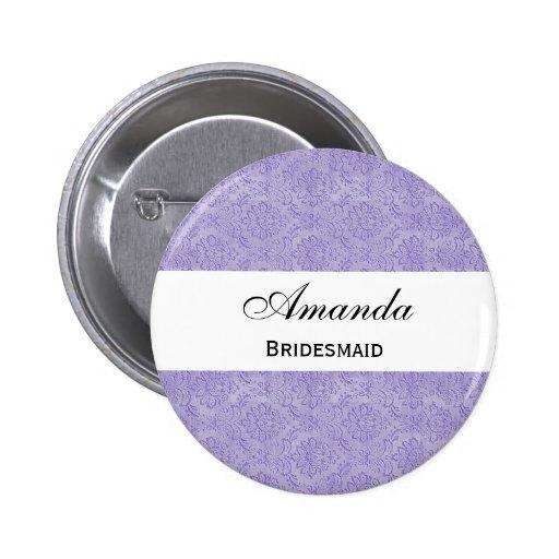 Colección adornada púrpura del boda del damasco de pins