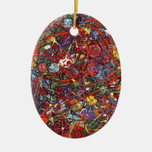Colección africana abstracta del modelo ornamentos de navidad