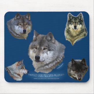 Colección alfa del partidario de la fauna del lobo tapete de ratones