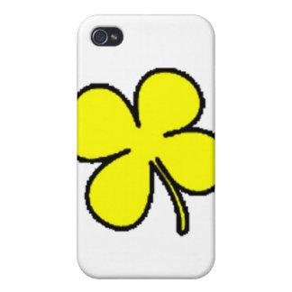 Colección amarilla del trébol de Tink iPhone 4 Carcasas