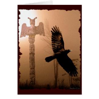 Colección Americano-temática nativa de la tarjeta