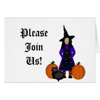 Colección amistosa de la bruja tarjeta de felicitación