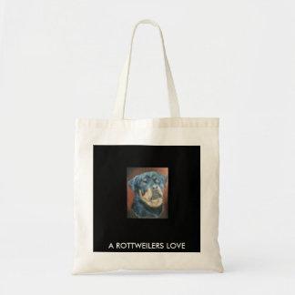 Colección animal - bolso reutilizable Rottweiler Bolsa Tela Barata