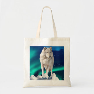 Colección ártica del lobo, de la aurora y de la bolsa tela barata