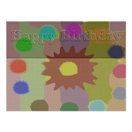 Colección asombrosa del feliz cumpleaños tarjetas postales