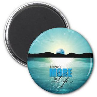 Colección azul de la puesta del sol More2Life Imán Redondo 5 Cm