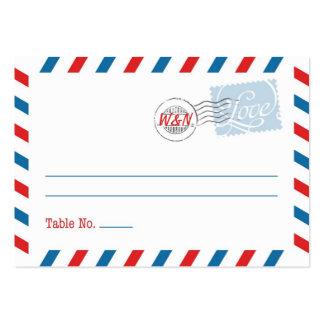 Colección azul del servicio postal de la tarjeta tarjetas de visita grandes
