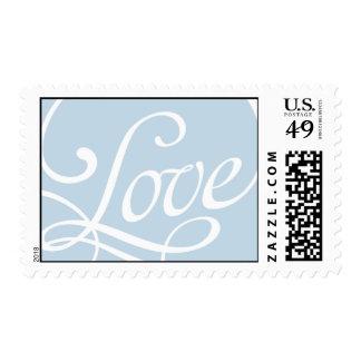 Colección azul del servicio postal del sello del