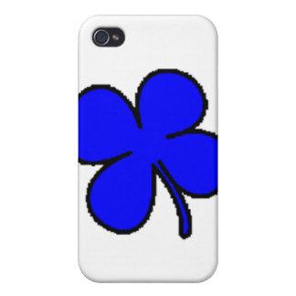Colección azul del trébol de Tink iPhone 4 Carcasas