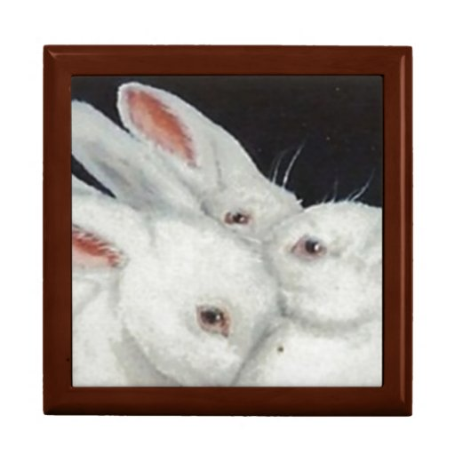 Colección blanca del trío del conejito cajas de regalo