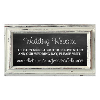Colección blanca rústica del boda del marco y de tarjetas de visita