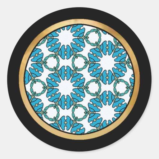 Colección bonita del modelo de la tela - pegatina redonda