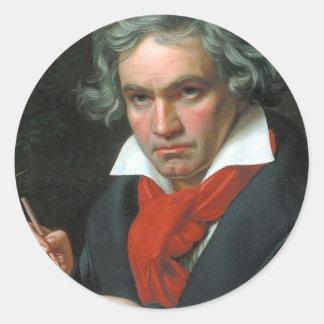 Colección clásica de la bella arte del producto de pegatina redonda