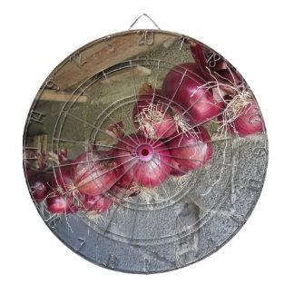 Colección colgante de la cebolla roja