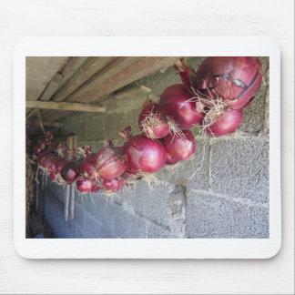 Colección colgante de la cebolla roja alfombrilla de raton