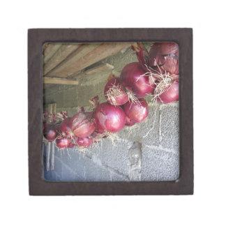 Colección colgante de la cebolla roja cajas de recuerdo de calidad