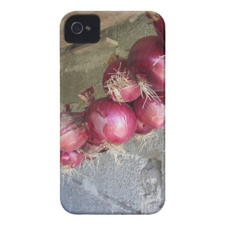 Colección colgante de la cebolla roja iPhone 4 protectores