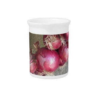 Colección colgante de la cebolla roja jarron