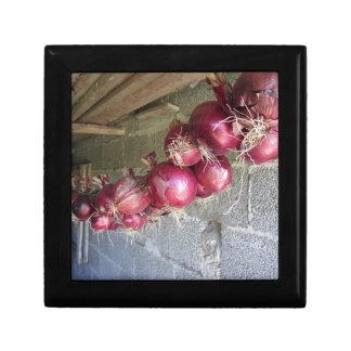 Colección colgante de la cebolla roja joyero cuadrado pequeño