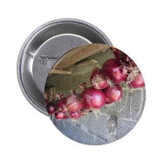 Colección colgante de la cebolla roja pin redondo 5 cm