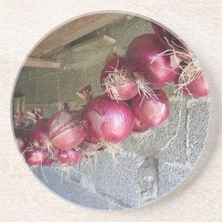 Colección colgante de la cebolla roja posavasos manualidades