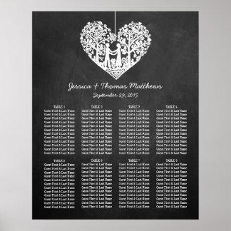 Colección colgante del boda de la pizarra del póster