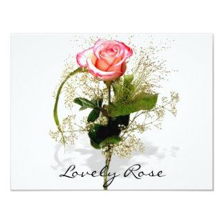 """Colección color de rosa preciosa invitación 4.25"""" x 5.5"""""""