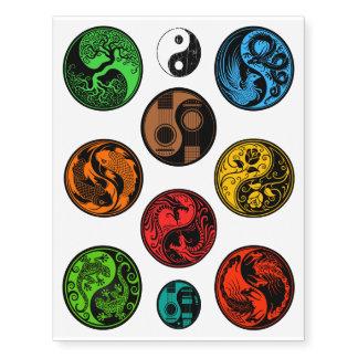 Colección colorida única de diez diseños de Yin Tatuajes Temporales