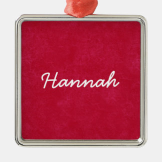 Colección conocida de encargo roja y blanca de adorno navideño cuadrado de metal