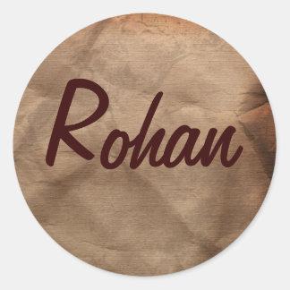 Colección conocida de los pegatinas de ROHAN Pegatina Redonda