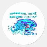 """""""Colección costera de Irene del huracán"""" Etiquetas Redondas"""