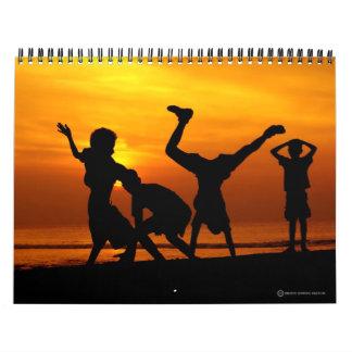 Colección creativa de los campos comunes calendarios de pared