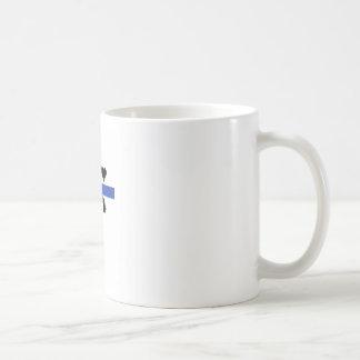 Colección cruzada azul taza de café