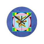 Colección curativa del símbolo de Art101 Reiki n K Reloj De Pared