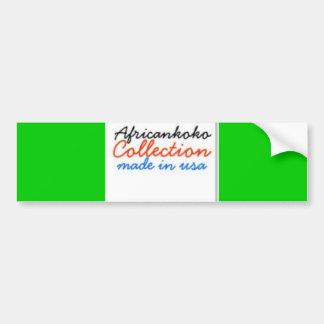Colección de Africankoko Etiqueta De Parachoque