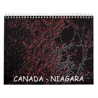 Colección de ART101 CANADÁ Niagara Falls Calendario