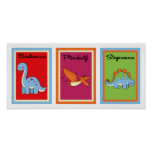 colección de arte de la pared de los dinosaurios 5 póster