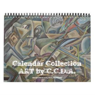 Colección de arte del calendario del artista