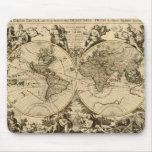 Colección de arte del mapa del mundo del vintage alfombrilla de ratón