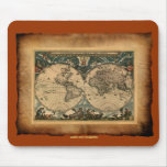 Colección de arte del mapa del mundo del vintage tapete de ratones