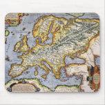 Colección de arte europea mediterránea del mapa de tapetes de ratón