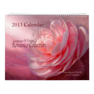 Colección de arte floral de la colección romántica calendarios