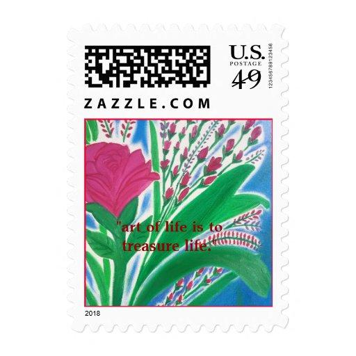 colección de arte sellos