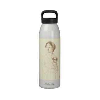 Colección de bosquejos de bellezas, arte del grafi botella de beber