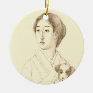 Colección de bosquejos de bellezas, arte del grafi ornamento para arbol de navidad