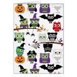 Colección de búhos fantasmagóricos de Halloween Tarjeta De Felicitación