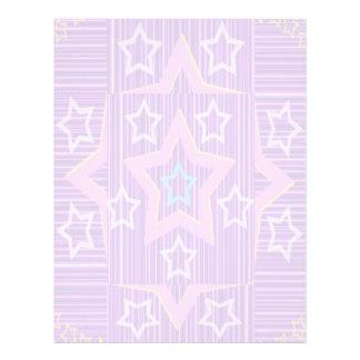 Colección de cinco estrellas: Colores suaves Membrete