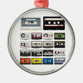Colección de cintas de casete audio retras