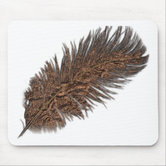 Colección de cobre de la pluma alfombrilla de raton