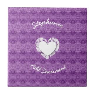 Colección de encaje púrpura Z23 del boda del Azulejo Cuadrado Pequeño